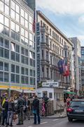 Checkpoint Charlie, Berlin - stock photo