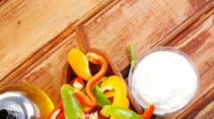 Pepper fennel and sour cream Stock Footage
