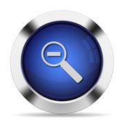 Zoom out button - stock illustration