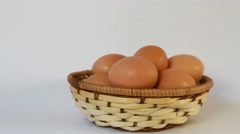 Eggs on a white background Stock Footage