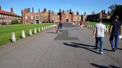 Hampton Court, London. Stock Footage