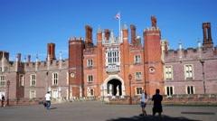 Hampton Court, London. Stock Footage