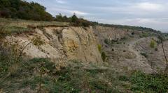 An old quarry landscape - stock photo