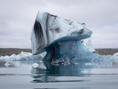 Stock Photo of Glacial lake on the edge of Vatnajokull National Park. at the head of the