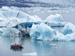 Stock Photo of Glacial lake at the head of the Breidamerkurjokull glacier created after the