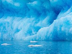 Glacial lake at the head of the Breidamerkurjokull glacier created after the Stock Photos