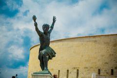 Side statue of the Liberty Statue (Freedom Statue) of Budapest, Hungary Kuvituskuvat