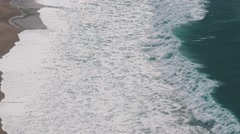 Ocean Beach in the Portuguese Town of Nazare Stock Footage