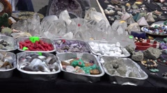 Jewelry accessories and stones sold in fair market. 4K Stock Footage