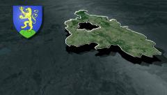 Pest with Coat of arms animation map - stock footage