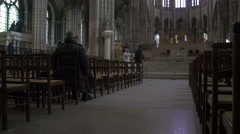 Paris St. Denis Cathedral 2 Stock Footage
