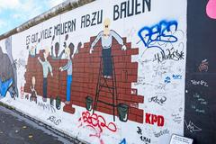 Stock Photo of Berlin Wall - East Side Gallery