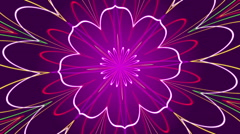Purple abstract background, kaleidoscope light, loop Stock Footage