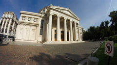 Athenee Palace, Landmark In Downtown Bucharest, Architecture, Cultural Center Stock Footage