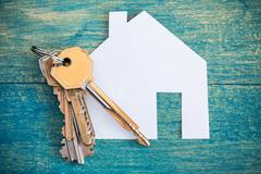 Stock Photo of House icon and keys