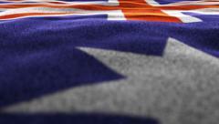 Australian Flag, Textile Background, Camera Move, 4k Stock Footage