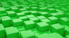 Green cubic surface in motion. Stock Footage