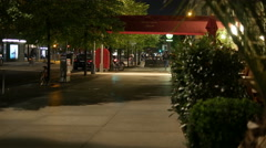 Entrance to the Hotel Adlon, Berlin. At night. 4K Stock Footage
