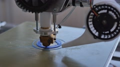 Printing design prototype with Plastic Wire Filament on 3D Printer Stock Footage