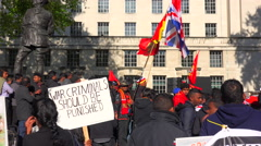A war protest by Sri Lankans on the streets of London, England. Stock Footage