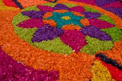 Easter carpets in antigua guatemala Stock Photos