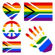 Stock Illustration of Design elements for Gay pride of South Africa.