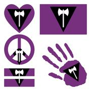 Stock Illustration of Lesbian pride design elements.