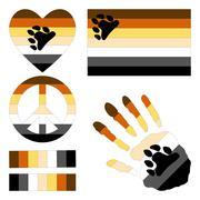 Bear Brotherhood pride design elements. - stock illustration
