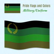 Stock Illustration of Military or Uniform pride flag with correct color scheme