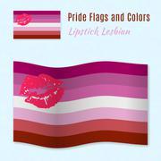 Lipstick Lesbian pride flag with correct color scheme Stock Illustration