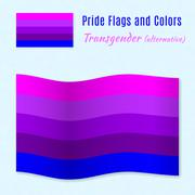 Stock Illustration of Transgender pride flag with correct color scheme