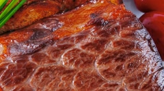Beef served with vegetables Stock Footage