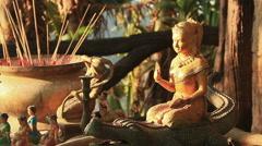 Guan Yin Statue Stock Footage