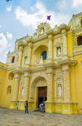 La merced church in antigua city guatemala Stock Photos
