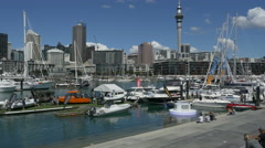 Establishing Shots of Auckland's Viaduct Harbour Stock Footage