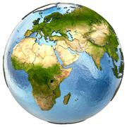 Europe and Africa on Earth - stock illustration