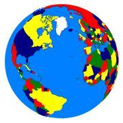 Northern hemisphere on planet Earth Stock Illustration
