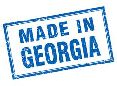 Stock Illustration of Georgia blue square grunge made in stamp