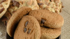 Sugarly Chocolate Chip Cookie Mixed Ready to Eat Stock Footage
