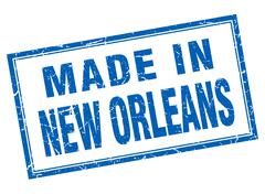 New Orleans blue square grunge made in stamp Stock Illustration