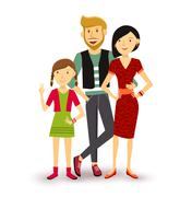 One child Happy family people flat illustration Stock Illustration