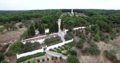 Canakkale French Cemetery - Memorial Stock Footage