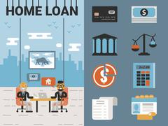 Home Loan Stock Illustration