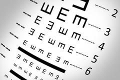 Stock Photo of An eye sight test chart
