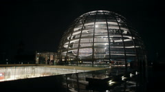 The dome of the Reichstag Berlin Germany evening view time lapse Stock Footage