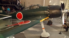 Japanese WWII Fighter Plane - stock footage