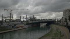 Paris St. Denis slums Stock Footage