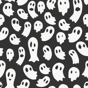 Vector seamless pattern with ghosts Stock Illustration