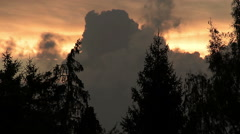 Dark clouds at sunset Stock Footage