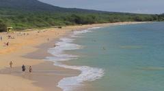 Makena Beach, Maui, Hawaii Stock Footage